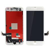 Дисплей (экран) для Apple iPhone 7 с сенсором (тачскрином) оригинал (Orig) белый (white)