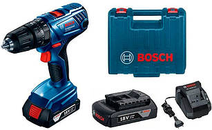 Акумуляторний ударний шуруповерт Bosch GSB 180-LI + AL 1814 CV + 2 акб GBA 18V 1.5 Ah + валіза (06019F8300)