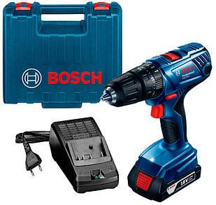 Акумуляторний ударний шуруповерт Bosch GSB 180-LI + з/у AL 1814 CV + 1 акб GBA 18V 1.5 Ah + валіза (06019F8301)