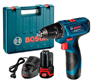 Акумуляторний шуруповерт Bosch GSR 120-LI + з/у AL 1115 CV + 2 акб GBA 12V 1.5 Ah + валіза (06019F7001)