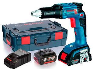 Акумуляторний шуруповерт Bosch GSR 18 V-EC TE + з/у AL 1860 CV + 2 x акб GBA 18V 5 Ah + валіза L-boxx (06019C8001)