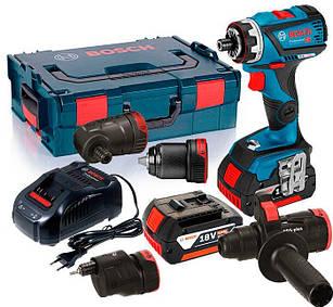 Акумуляторний шуруповерт Bosch GSR 18 V-60 FC + 4 насадки + AL 1880 CV + 2 акб GBA 18V 5 Ah + L-boxx (06019G7100)