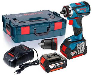 Акумуляторний шуруповерт Bosch GSR 18 V-60 FC + з/у AL 1880 CV + 2 кб GBA 18V 5 Ah + валіза L-boxx (06019G7101)