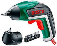 Аккумуляторный шуруповерт Bosch IXO + з/у + угловая насадка + набор бит (06039A8021)