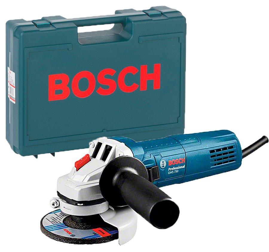 Болгарка Bosch Professional GWS 750-125 + чемодан (0601394001C)