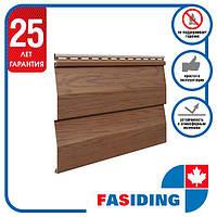 Сайдинг виниловый. Панель FaSiding WoodHouse 3,0х0,25 м. Цвет: Дуб Золотой