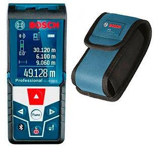 Дальномер лазерный с функцией Bluetooth Bosch GLM 50 C Professional + чехол (0601072C00)
