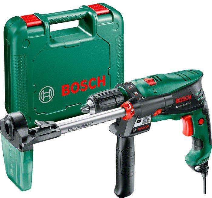 Дрель ударная Bosch EasyImpact 550 + пылеотвод + чемодан (0603130021)