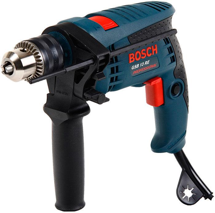Дрель ударная Bosch GSB 13 RE (под ключ) (0601217102)