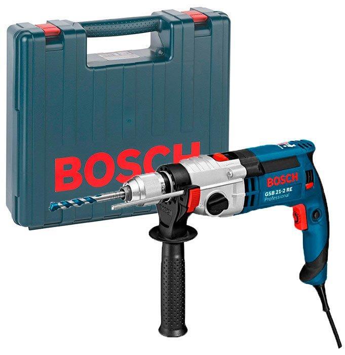 Дрель ударная Bosch GSB 21-2 RE + чемодан (060119C500)