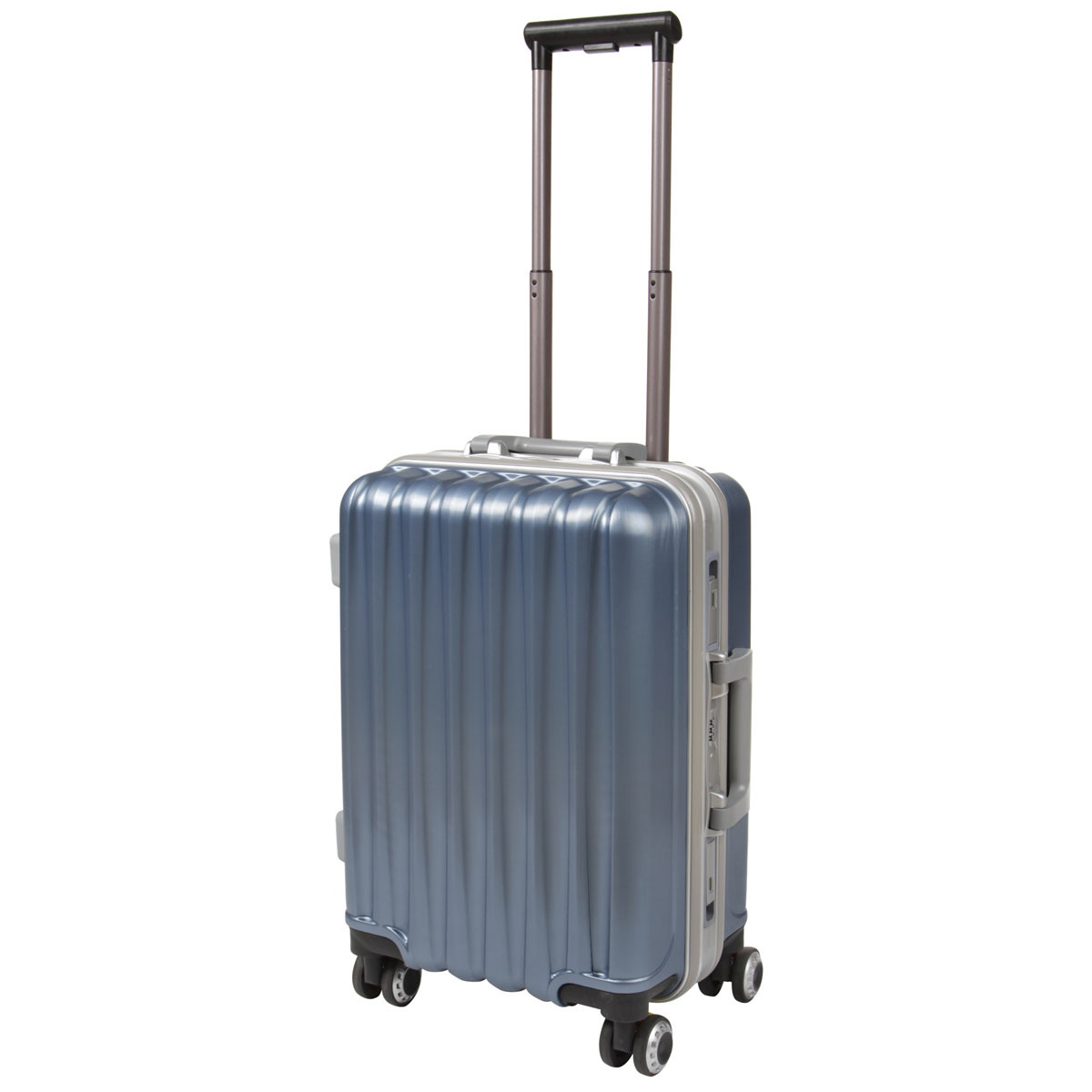 Чемодан BagHouse 36х51х24 малый 4 колеса цвет серебристо-голубой  кс325мгол