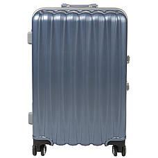 Чемодан BagHouse 36х51х24 малый 4 колеса цвет серебристо-голубой  кс325мгол, фото 3