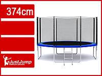 Батут Just Jump 374 см с сеткой + лестница, фото 1
