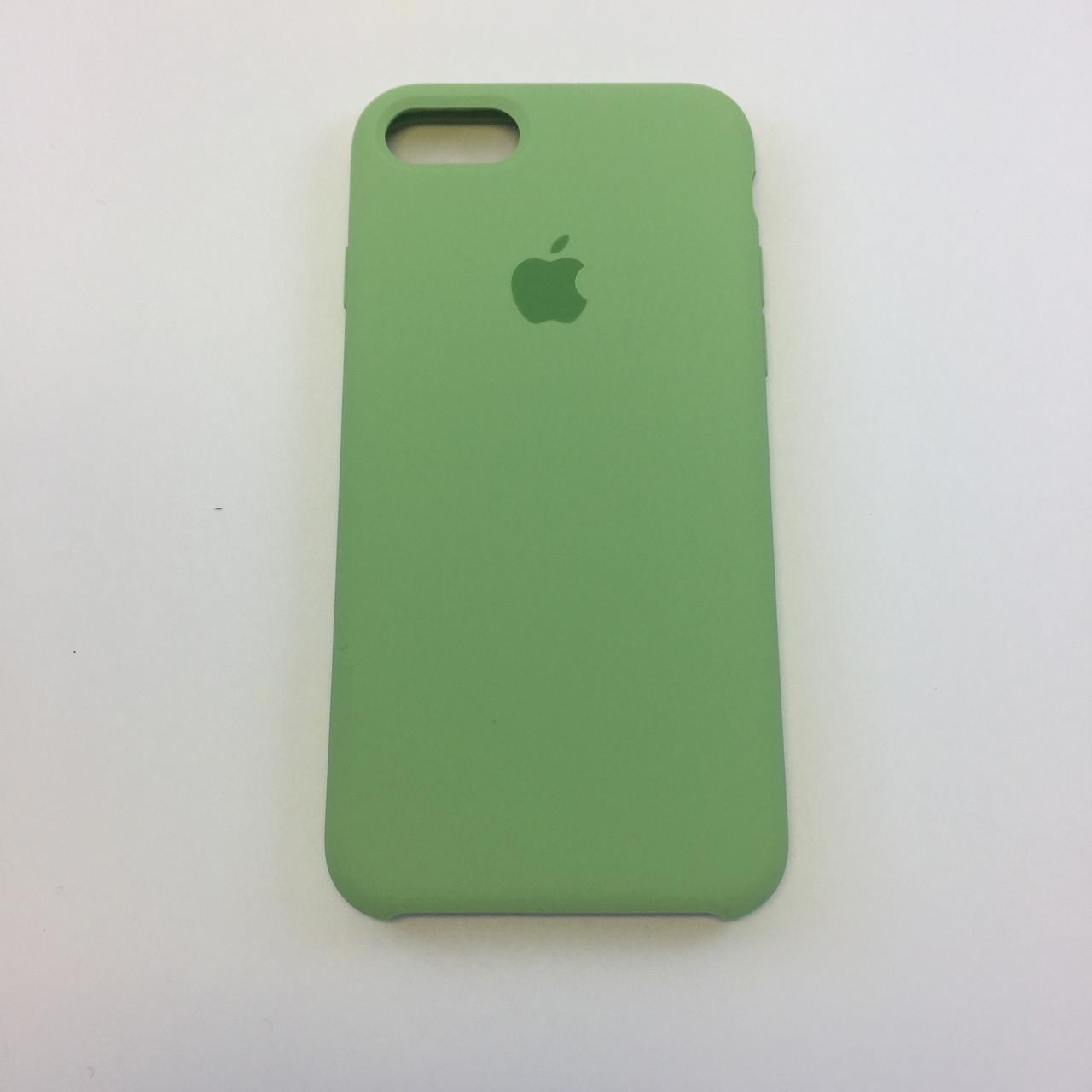 Силиконовый чехол для iPhone 7 Plus, - «фисташка» - copy original