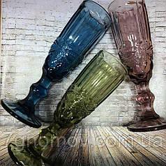Набор 6 бокалов для шампанского из цветного стекла Bailey Afina 200 мл