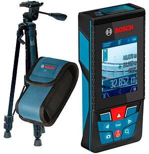Лазерный дальномер Bosch GLM 120 C + штатив Bosch BT 150 + чехол (0601072F01)