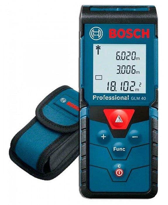 Лазерный дальномер Bosch Professional GLM 40 + чехол (0601072900)