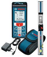 Лазерный дальномер Bosch GLM 80 с встроенным цифровым уровнем + рейка Bosch R 60 + чехлы (0601072301)