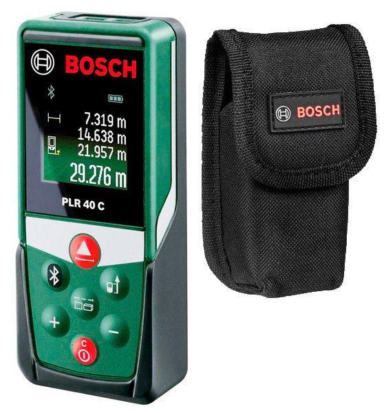 Лазерный дальномер Bosch PLR 40 C + чехол (0603672320)