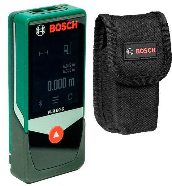 Лазерный дальномер Bosch PLR 50 C + чехол (0603672220)