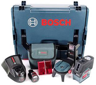 Лазерный нивелир Bosch Professional GCL 2-50 C + держатель BM 3 + зарядка с аккумулятором + чехол + L-Boxx