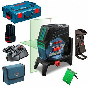 Лазерный нивелир Bosch Professional GCL 2-50 CG + держатель RM2 + потолочный держатель + ЗУ с акб + чехол