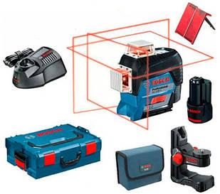 Лазерный нивелир Bosch Professional GLL 3-80 C + держатель BM1 + ЗУ с аккумулятором 12 V + чемодан L-Boxx