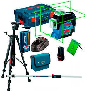 Лазерный нивелир Bosch Professional GLL 3-80 CG + штатив BT 150, приёмник LR7 + GR240 + BM1, L-Boxx