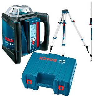 Лазерний нівелір Bosch GRL 500 H + LR 50+ пульт LR 50 + штатив BT 160 + лінійка GR 500 + валіза (06159940EE)
