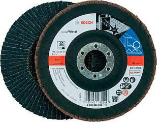 Лепестковый шлифкруг Bosch Best for Metal, X571, 125×22,23 мм, К40 (2608606922)