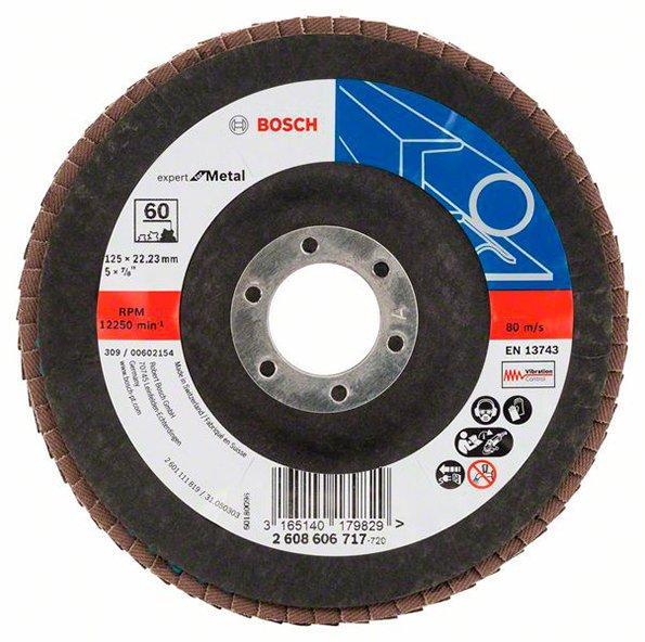 Лепестковый шлифкруг Bosch Expert for Metal, 12522,23 мм, К60 (2608606717)