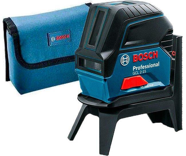 Линейный лазерный нивелир Bosch Professional GCL 2-15 + держатель RM 1 + чехол (0601066E00)