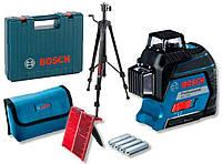 Линейный лазерный нивелир Bosch GLL 3-80 + штатив BT 150 + Чемодан (0601063S0D)