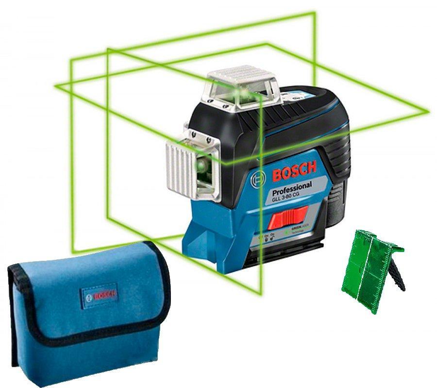 Линейный лазерный нивелир Bosch Professional GLL 3-80 CG без аккумулятора (0601063T02)