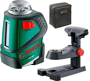 Линейный лазерный нивелир Bosch PLL 360 + настенный держатель MM1 + чехол (0603663020)