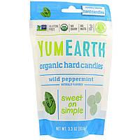 YumEarth, Органические леденцы, дикая мята, 3,3 унц. (93,6 г)