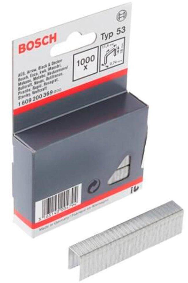 Металлические скобы Bosch, тип 53, 1211,40,74 мм, 1000 шт (1609200367)