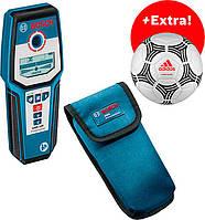 Металлоискатель Bosch GMS 120 + чехол + футбольный мяч (06159940LP)