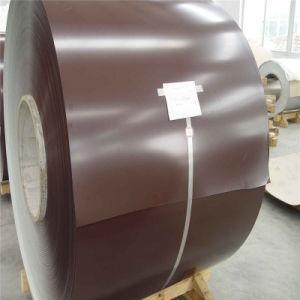 Гладкий лист с полимерным покрытием RAL 8017 0,45 мм . Глянец