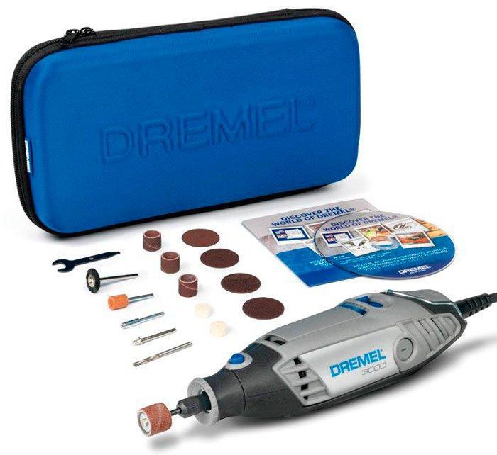 Многофункциональный инструмент DREMEL 3000 + 15 насадок + футляр (F0133000JC)
