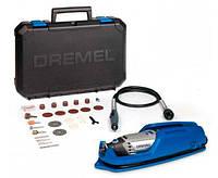 Многофункциональный инструмент DREMEL 3000 + 25 насадок + гибкий вал + подставка + чемодан (F0133000JT)