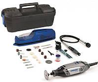 Многофункциональный инструмент Dremel 3000 + 25 насадок + циркуль + гибкий вал + подставка + чемодан (F0133000NJ)