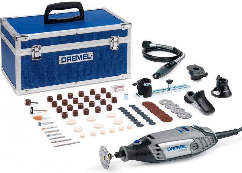 Многофункциональный инструмент Dremel 3000-5/75 L + 75 насадок + 5 приспособлений + чемодан (F0133000NN)
