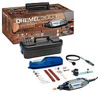 Многофункциональный инструмент XMAS2018 Dremel 3000+ чемодан + подставка + гибкий вал +циркуль + 45 насадок (F0133000UD)