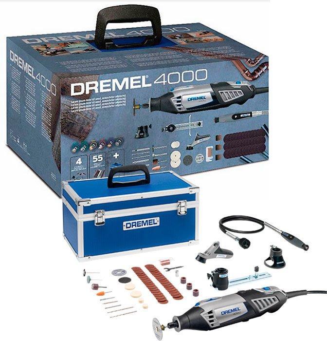Многофункциональный инструмент XMAS2018 Dremel 4000 + чемодан + 4 приспособления + 55 насадок (F0134000UD)