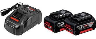 Набор Bosch Professional 2 аккумулятора GBA 18V 5,0 Ah + ЗУ GAL 1880 CV (1600A00B8J)