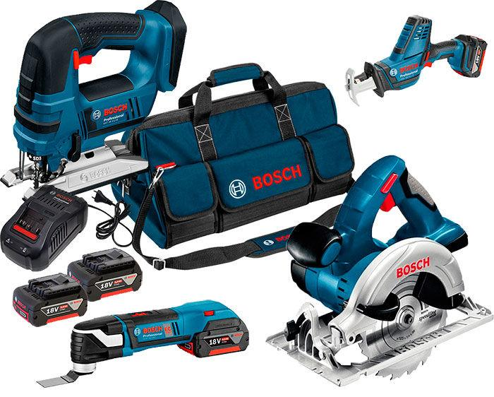 Набор Bosch Professional GST 18 V-LI + GSA 18 V-LI C + GOP 18 V-28 + з/у AL 1880 CV + GKS 18V-57 + 2 акб (06015A6SET)