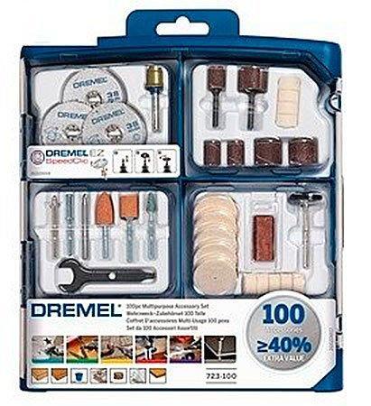 Набор многофункциональных насадок Dremel 100 шт (723) (2615S723JA)