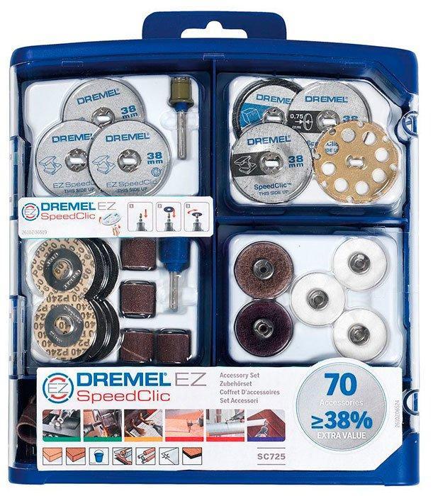 Набор многофункциональных насадок Dremel 70 шт (SC725) (2615E725JA)