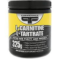 Primaforce, L-карнитин, L-тартрат, Без вкусовых добавок, 325 г